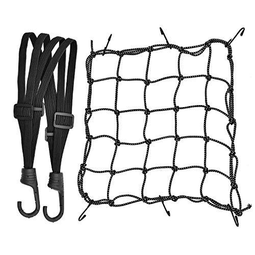 1 Stück Motorrad Gepäcknetz Dehnbar Reflektieren Netz Helmnetz mit...