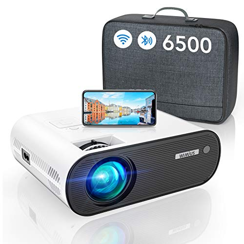 WiFi Bluetooth Beamer, WiMiUS LED Video Beamer Full HD Unterstützung...