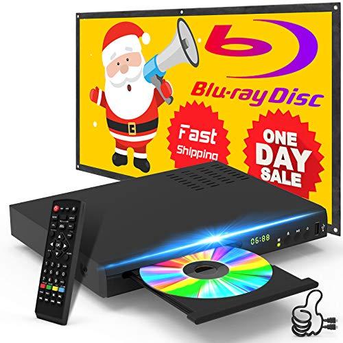 Blu Ray Disc Player mit HDMI AV Kabel, 1080P, USB, DTS, Sound Effekt...