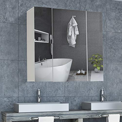 DICTAC spiegelschrank Bad Badezimmer spiegelschrank 70 x 15 x 60cm (B...
