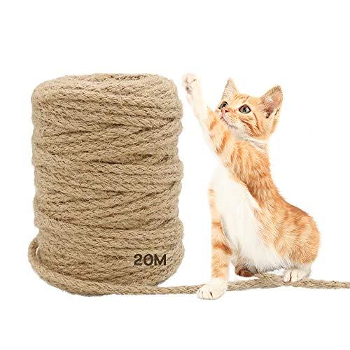 MEISHANG 20 m Seil für Katzenbaum,Katzen Kratz Seil,Sisal...