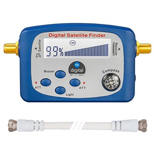 HB-DIGITAL SATFINDER mit LCD Anzeige Kompass und Ton +...