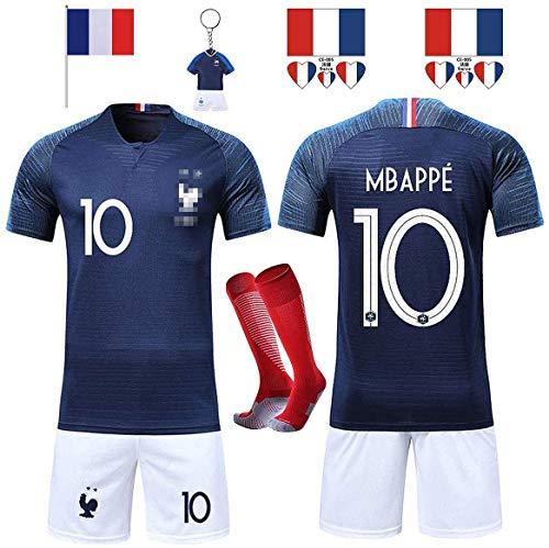 Rongli Fußballtrikots T-Shirt 2 Sterne Fußballkleidung mit Socken...