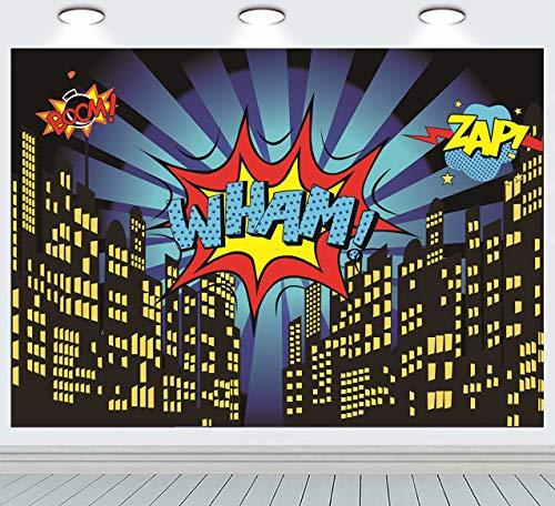 Ruini Superhelden-Foto-Hintergrund mit Sternen, für Kinderzimmer,...
