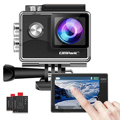 Campark X15 4K 20MP Action Cam WiFi Touchscreen EIS Unterwasserkamera...