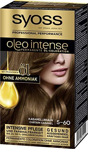 SYOSS Oleo Intense Permanente Öl-Coloration 5-60 Karamellbraun, mit...