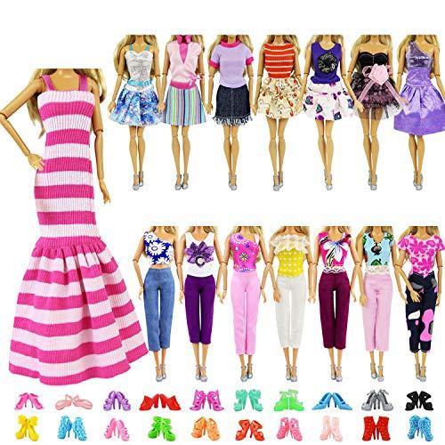 ZITA ELEMENT 10 Stück Kleider Kleidung Puppensachen Mode Urlaubstag...