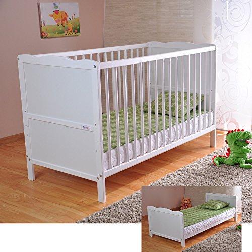 BABY Gitterbett Babybett Kinderbett mit Aloe Vera Schaumstoffmatratze...