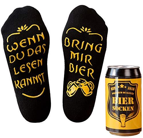 Top-Geschenk24.de Bier Socken Herren, Bier Geschenk für Männer,...