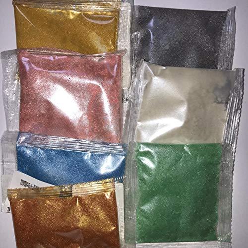 7 x 5g Lebensmittelfarbe Pulver metallic Glitzer Puder