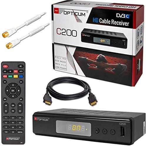 Kabel Receiver DVB-C HB-DIGITAL Set: Opticum HD C200 Receiver für...