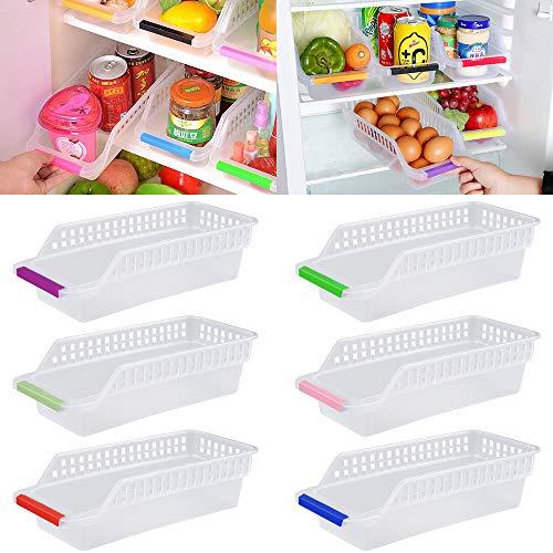 Kühlschrank Organizer, JRing Kühlschrankbox 6 Stück Kühlschrank...