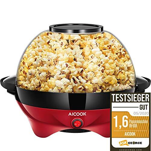 Aicook Popcornmaschine für Zuhause, Popcorn Maker Machine mit Zucker...