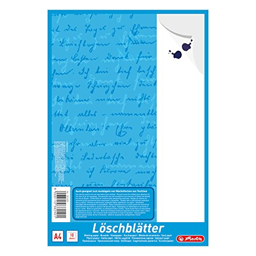 Herlitz 382408 Löschblattblock A4, 10 Blatt
