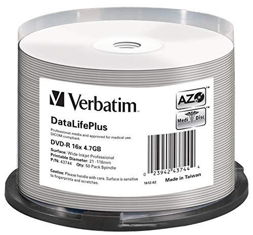 Verbatim DVD-R 16x Wide Inkjet Professional 4.7GB I DataLifePlus I...