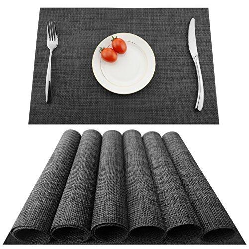 KOKAKO Platzsets(6er Set),Rutschfest Abwaschbar Tischsets Tischmatte...