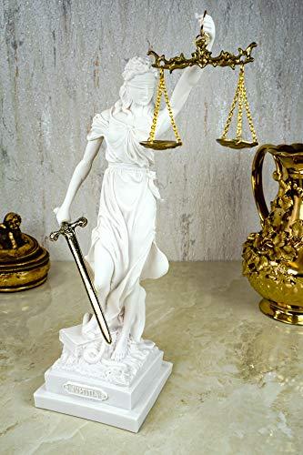 Kremers Schatzkiste Alabaster Justitia Göttin Figur Skulptur weiß...