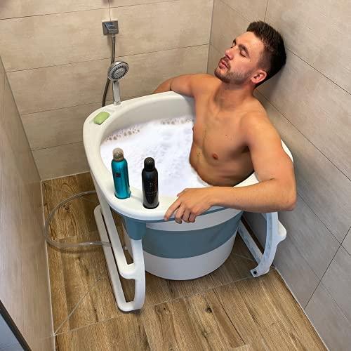 CRS Sitzbadewanne für Dusche & kleines Bad   faltbare Badewanne...