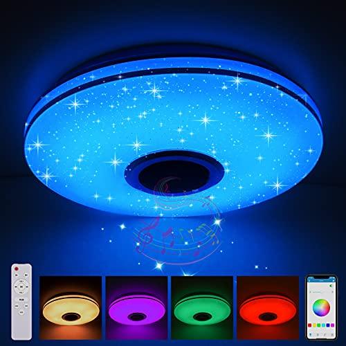 36W LED Deckenleuchten Dimmbar mit Bluetooth Lautsprecher,LED...