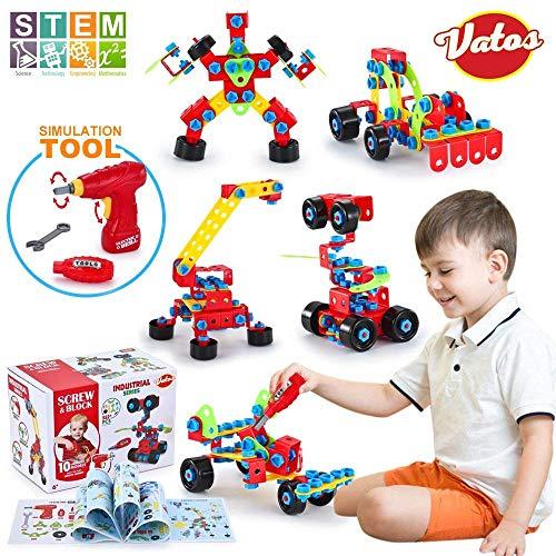 VATOS Spielzeug Baue Bausteine Lernspielzeug Baukasten mit 552 Stück...