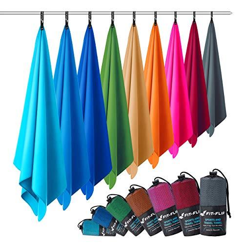 Fit-Flip Microfaser Handtuch – federleicht, Ultra saugstark und...