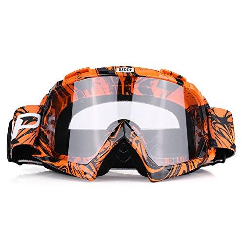 Qiilu Motorrad Goggle Motocross Wind Staubschutz Fliegerbrille...