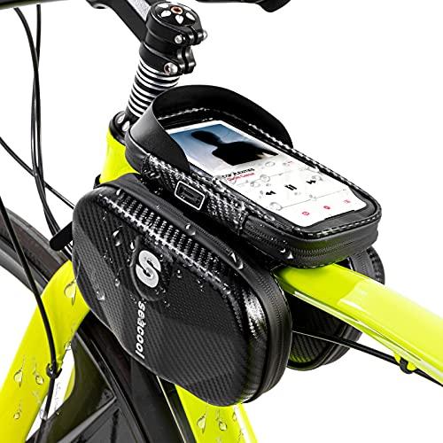Seacool Rahmentasche Fahrrad, Wasserdicht Fahrradtasche Tasche,...