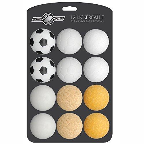 GOODS+GADGETS 12x Stück Speedball Kickerbälle für Tischfussball...