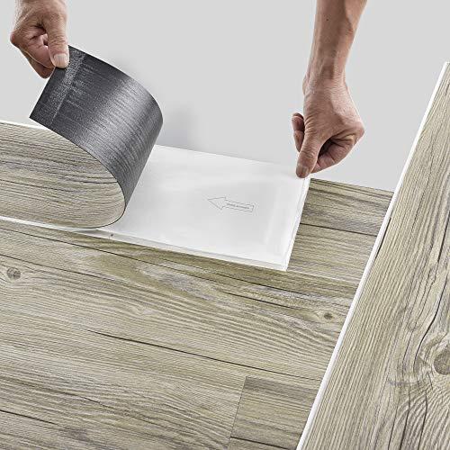 neu.holz Bodenbelag Selbstklebend 5,85 m² 'Italian Oak' Vinyl Laminat...