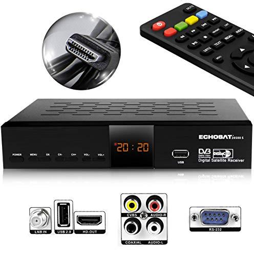 Hd-Line Echosat 20500 S Digitaler Satelliten HD Receiver (HDTV, DVB-S...