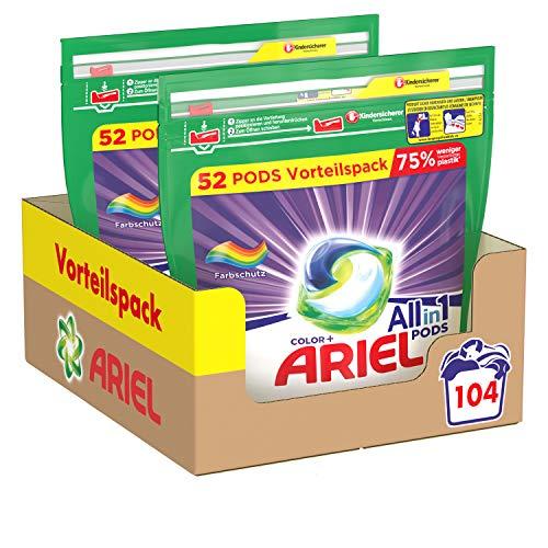 Ariel Waschmittel Pods All-in-1, Color Waschmittel, 104 Waschladungen,...