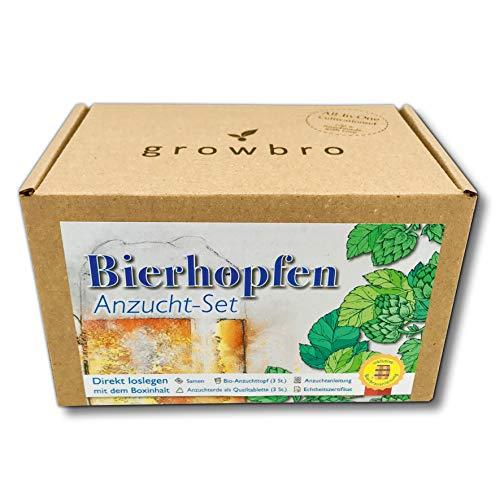 growbro Hopfen Anzuchtset, DER WEG ZU DEINEM EIGENEN BIER, Geschenk...
