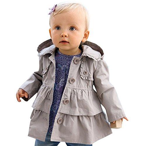 iEFiEL Baby-Mädchen Jacke, Babykleidung, Baumwolle Baby Mantel...