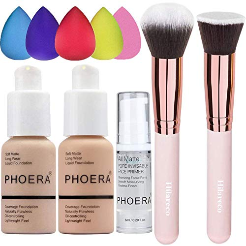 PHOERA Foundation (Nude #102 +Buff Beige #104) & Makeup...