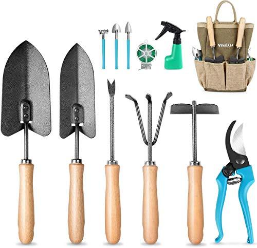 MOSFiATA Gartenwerkzeug Set 12-teiliges Handwerkzeugset aus...