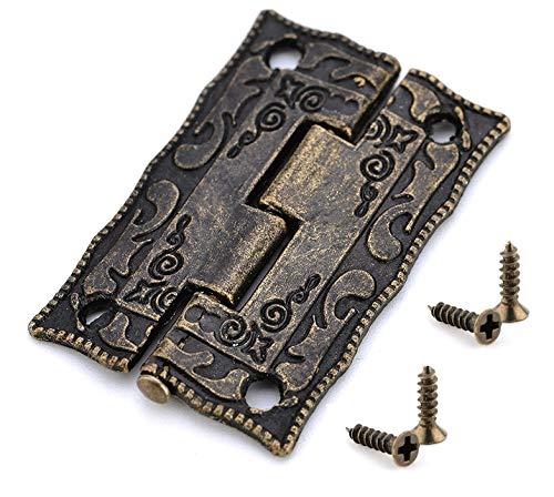 10PCS antike Bronze Scharniere Kabinett Tür-Fach-Dekoration...