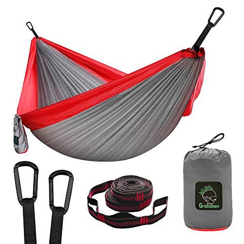 Camping Hängematte Doppel & Einzel tragbare Hängematte mit...