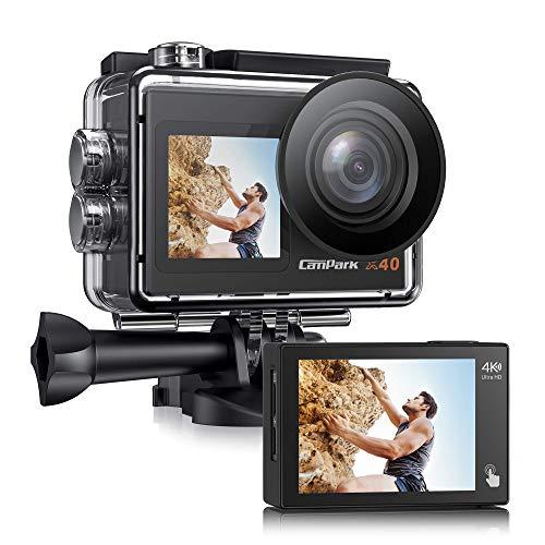 [2021 NEUESTE] Campark X40 Dual Bildschirm 4K 20MP WiFi Action Cam 40M...