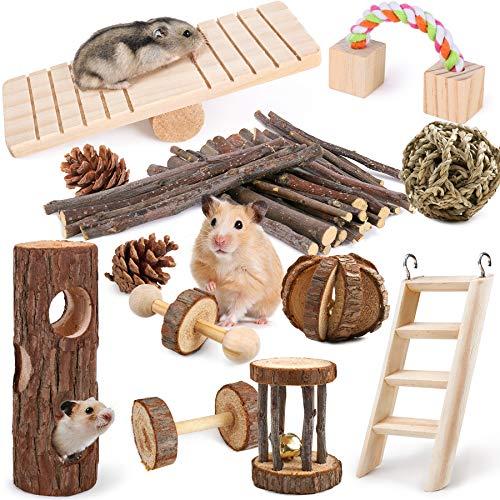 Hamster Spielzeug 12 Stück Meerschweinchen Hamster Kauspielzeug...