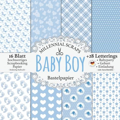 Baby Boy Bastelpapier: Scrapbooking Papier & Zubehör Blau & Grau I...