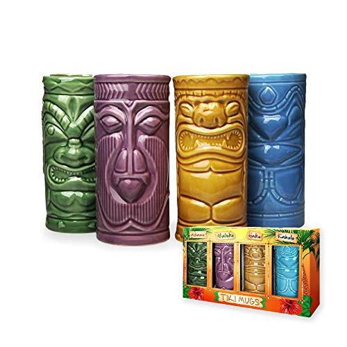 mikamax - Tiki Becher – Tiki Mugs - 4er Set - Keramik -...