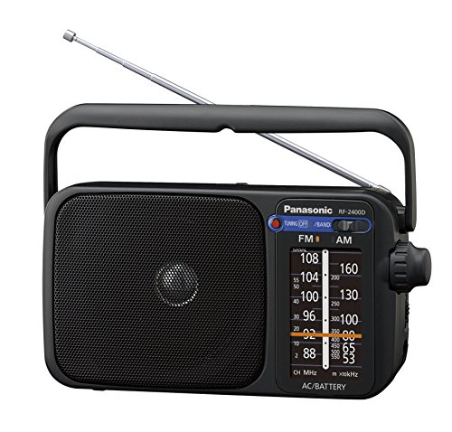 Panasonic RF-2400DEG-K Tragbares Radio mit Griff, Netz- oder...