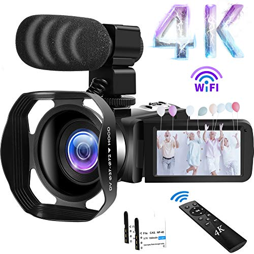 Camcorder 4K Videokamera 48MP 60FPS WiFi Camcorder 18X Digital Zoom...