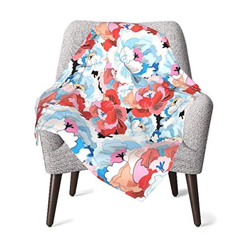 GOWINEU 76 x 101 cm (30 x 40 Zoll) Babydecke mit Blumenmuster Muster...