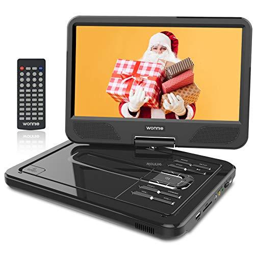 WONNIE 2021-Aufgerüstet 10,5 Zoll Tragbarer DVD Players mit 270°...