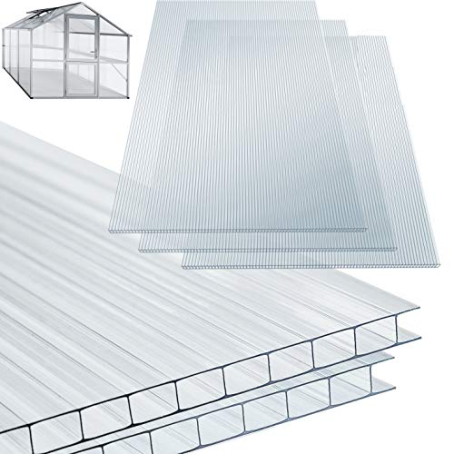 KESSER® 14x Polycarbonat Hohlkammerstegplatten 4mm | 10,25 m²...
