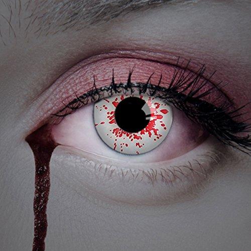 aricona Kontaktlinsen - weiße Jahreslinsen ohne Stärke - Halloween...