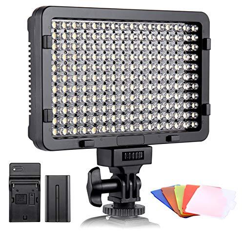 ESDDI LED Fotolicht, Videolicht, 176 LED Super Bright Dimming...