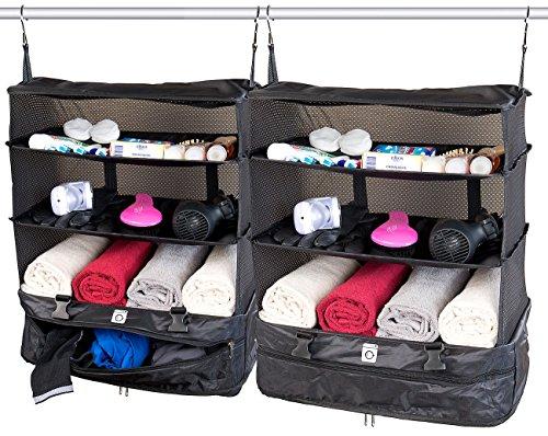 Xcase Regaltasche: 2er-Set XXL-Koffer-Organizer, Packwürfel zum...