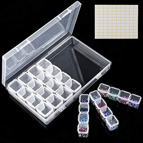 Ealicere 28 Fächer Kunststoff Dosen Aufbewahrungsbox, Diamond...